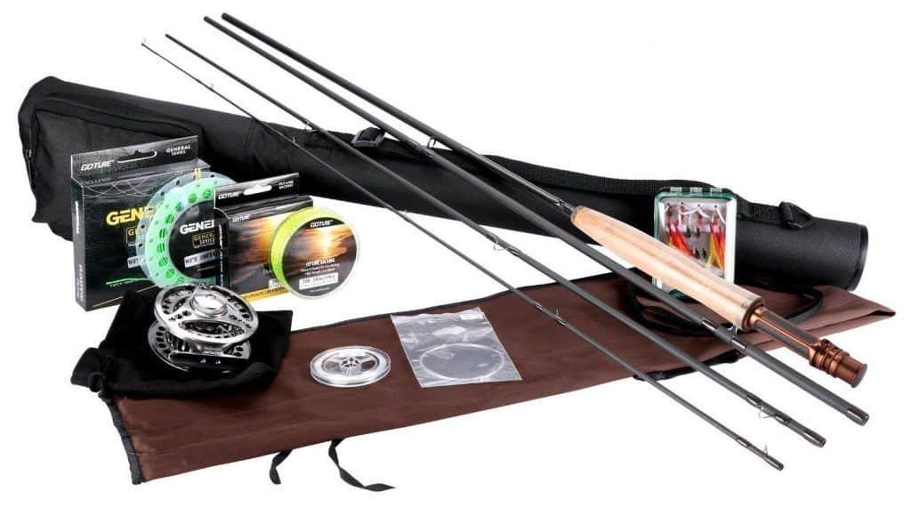 equipo de pesca con mosca para principiantes